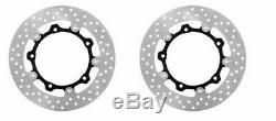 2 Brake Discs Front Floating Yamaha Xp 500 T-max Tmax 2004 2005 2006 2007