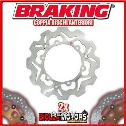 2-s38020 Pairs Front Brake Discs DX + Sx Braking Yamaha Xp T-max Abs 530cc