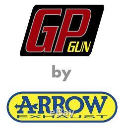 Arrow Exhaust Complete Hom Gp2 Gp 2 Gpgun Black Yamaha Tmax Tmax 530 2018 18