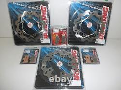 Braking Brake Discs Set Anter + Posters + Past Yamaha Tmax Abs 530 2012 2013