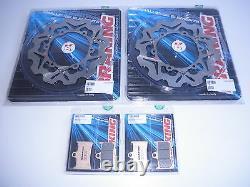 Brakinging Set Pair Front Discs - Brake Plate For Yamaha T-max 500 2009