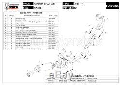 Complete Pot Counterpart Gp Y. 028. L2s Yamaha MIVV T-max Tmax 500 2008 08 2009 09