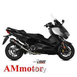 Exhaust MIVV Complete Moto Yamaha T-max 530 2017 Black Oval Carbon Cap