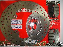 Kit 2 Brake Discs Brembo + Front Pads Yamaha 500 T-max 2006 2007 7c2