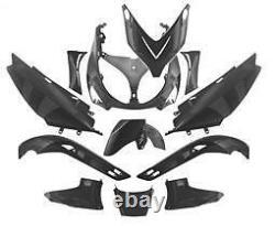 Kit Caressing Body Fairing 12 Pieces 500 T-max Tmax Hull Black Satin