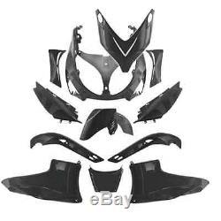 Kit Fairing 12 Pieces Yamaha T-max 500 Tmax Shells Black Matt Bodywork New