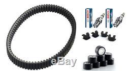 Kit Kevlar Reinforced Belt Rollers Cursor Candles Yamaha Tmax T-max 500 01/11