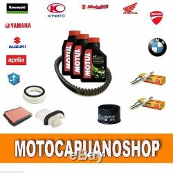Kit Maid Yamaha Tmax 530 2012 2013 Motul Oil Candles Belt Filters
