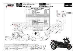 MIVV Complete Hom Speed ​​edge Carbon Cap Yamaha T-max Tmax 530 2018 18
