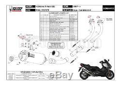 MIVV Line Complete Hom Black Oval Carbon Cap Yamaha Tmax Tmax 19 530 2019