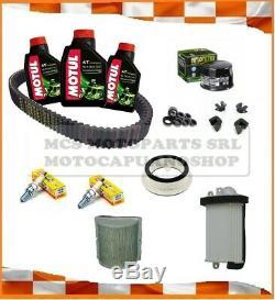 Maintenance Kit Yamaha T Max 500 04 2005 Oil Motul Filters Belt Rollers