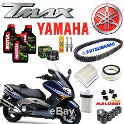 Maintenance Oil Motul 5100 Air Filter Oil Belt Yamaha Tmax Tmax 500 2001 07