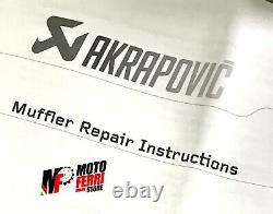Mf1454 Set Silent Repair Laine Akrapovic Yamaha 500 530 Tmax 2008 -2016