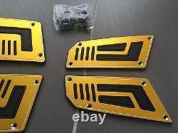 On Foot Front Rear Nine Yellow Tuning Yamaha Tmax Tmax 530 2012 2015