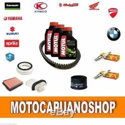 On Kit Yamaha Tmax Maintenance 530 2015 2016 Motul Oil Candles Belt Filters