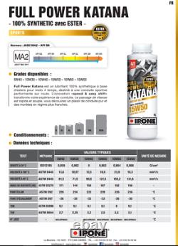 Pack Vilange Filter Oil Ipone Full Power Katana 10w40 Yamaha T-max 530 12-16