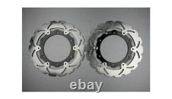 Pair Brake Discs Front Waves 267mm Yamaha Tmax T-max 500 Abs 2008-2011