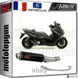 Pot Complete Gp Gun By Arrow Acier Noir Yamaha T-max Tmax 530 2012 12 2013 13