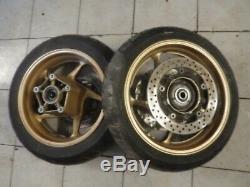 Rims Tmax 530 Black Max Gold + Tires Discs +