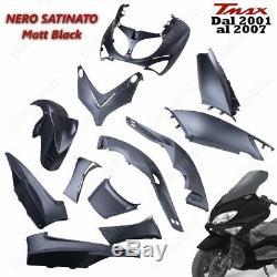 Set 12 Parts Fairing T Max 500 Tmax 2001/2007 Black Matte Satin Sport Fairing