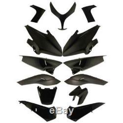 Set Carene Glossy Black Yamaha Xp 500 T-max (sj011) 2008-2011