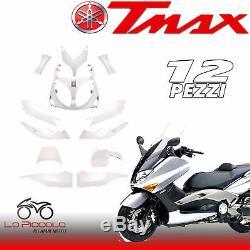 Set Fairing Full White Nacre 12 Parts Yamaha Tmax T Max 500 2001 2007