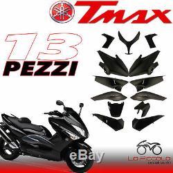 Set Plastic Fairing 13 Pieces Polished Black Yamaha Tmax T Max 500 2008 2009