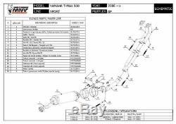 Yamaha T-max 500 2008 2009 MIVV Gp Complete Line Black Approved