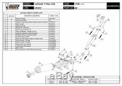 Yamaha T-max 500 2010 2011 MIVV Gp Complete Line Black Approved