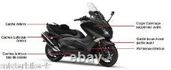 Yamaha T-max 530 10 Pieces Tmax Black Shiny Hulls Neuf Fairing