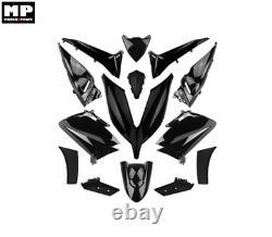 Yamaha T-max 530 Tmax 2015 2016 Fairing Kit 14 Shiny Black Hulls
