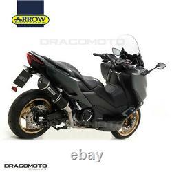 Yamaha T-max 560 2020 Complete Line Arrow Race-tech Alu Black CC