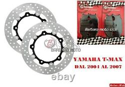 2 Disques de Frein Yamaha Avant Tmax T-Max 500 2004 2005 2006 + Plaquettes