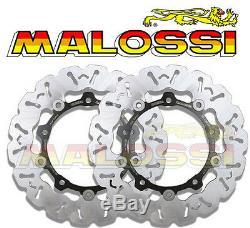 2 Disques freins Avant Woop Disc Brake MALOSSI YAMAHA T-MAX 530 à partir 2012