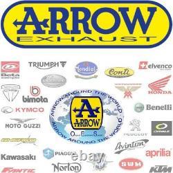 Arrow Pot Echappement Approuve Race-tech C Blanc Yamaha Yp 500 T-max 2009 09