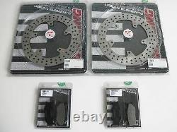 BRAKING Deux Disques + Deux Couples Plaquettes Avant Yamaha T-Max 500 2004 2005