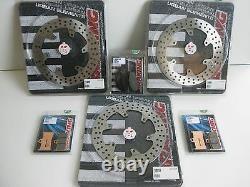 BRAKING Set Disques et Plaquettes de Frein Avant / Post De Yamaha T-Max 500 2010