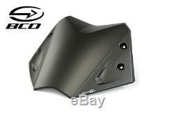 Bulle BCD pour YAMAHA TMax 530 T-Max Noir mat Carbone kit fixation Short Screen