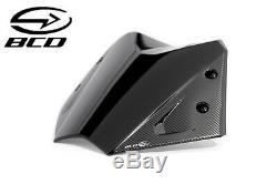 Bulle sport BCD pour YAMAHA TMax 530 T-Max Noir brillant Carbon short screen