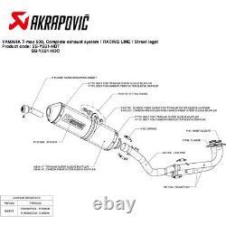 Echappement Complete Akrapovic Racing Line Carbone Yamaha T-Max 530 2001 2007