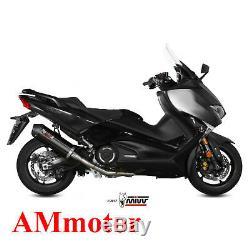 Echappement Complete Moto Mivv Yamaha T-Max 530 2018 18 Oval Black Carbon Cap
