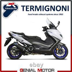 Echappement Complete Racing Termignoni Carbone noir pour Yamaha T-max 560 2020