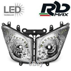 Feux Phare Optique Avant Avec Bande Led Yamaha Tmax T Max 500 2008-2012 Homologu