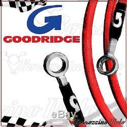 GOODRIDGE FLEXIBLES DE FREIN ROUGE ACIER AVANT ARRIÈRE YAMAHA T-MAX 500 ie 2007