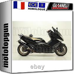 Giannelli Ligne Complete Approuve Ipersport Noir Yamaha T-max Tmax 500 2010 10