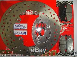 Kit 2 Disques De Frein Brembo + Plaquettes Avant Yamaha 500 T-max 2006 2007 7c2