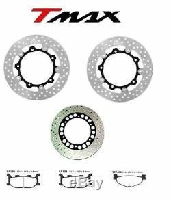 Kit 3 Disques de Frein + Plaquettes Yamaha T-Max Tmax 500 Année 2004 2005 2006