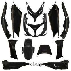 Kit Carénage Yamaha T-max 2001-2007 Type Origine Noir Brillant 12 Pièces