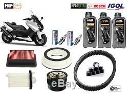 Kit Entretien Complet Courroie Filtre 3L Huile YAMAHA T-MAX 530 2012 à