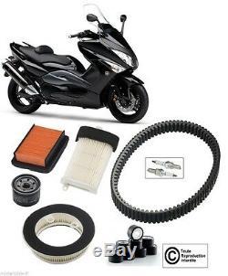 Kit Révision Yamaha 500 T-MAX 08/11 filtre à air huile bougie courroie galets